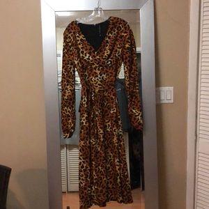 Walter Baker leopard Maxi Dress